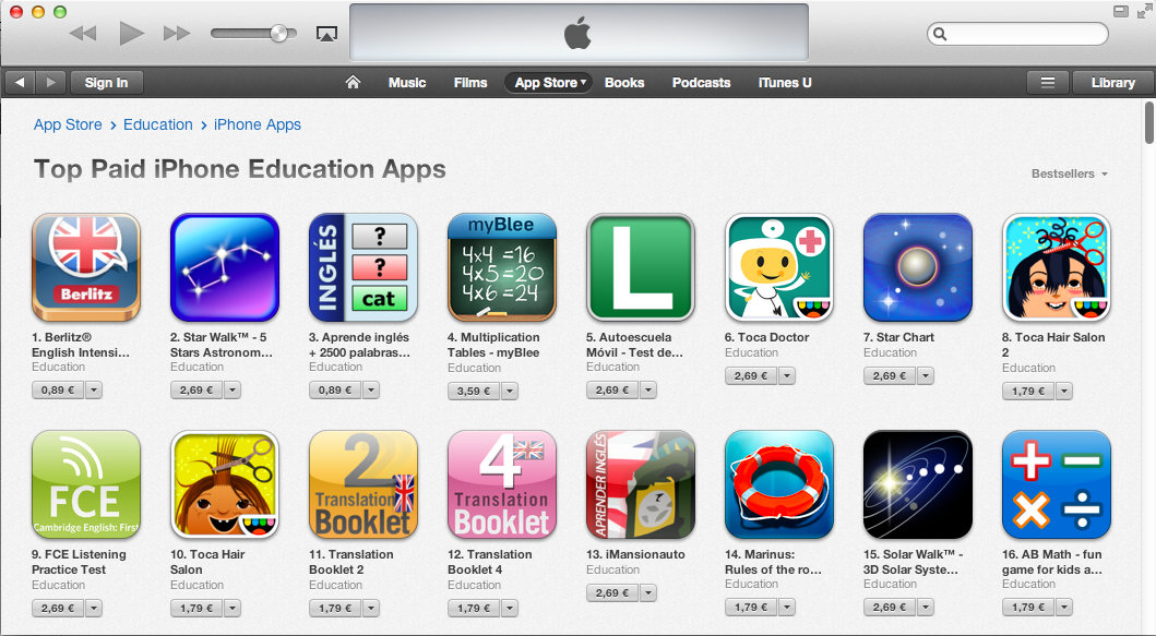 Education 4th highest earning app category