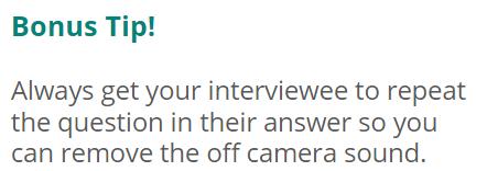 bonus video tip