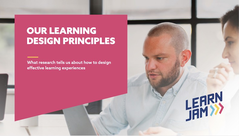 Our learning design principles - cover image