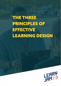 The Three Principles of Effective Learning Design - Whitepaper cover image
